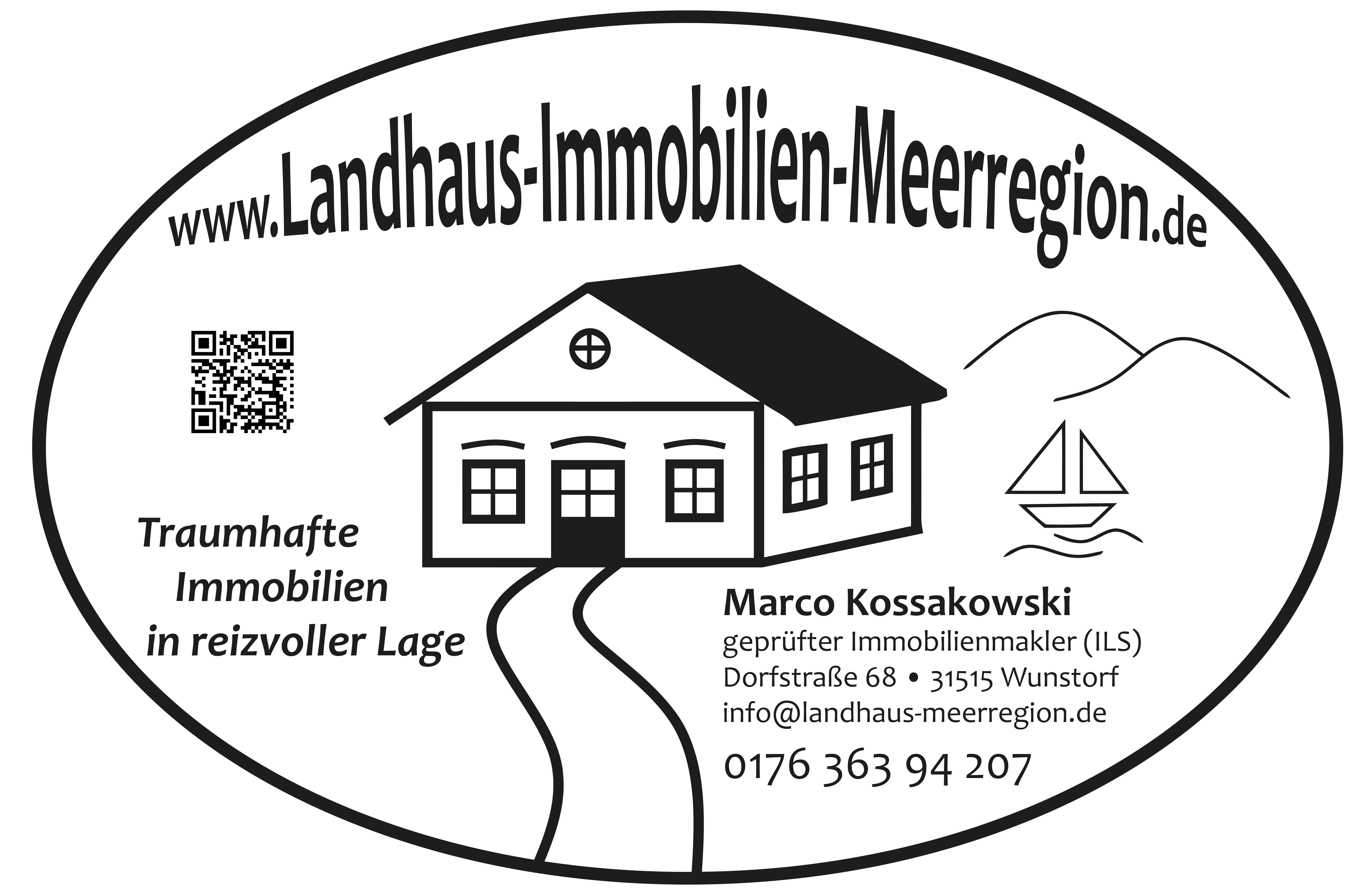 Landhaus Immobilien Meerregion oval
